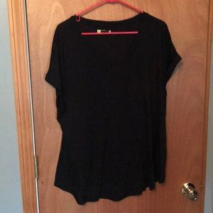 Xersion Activewear relaxed fit black tee shirt  xl